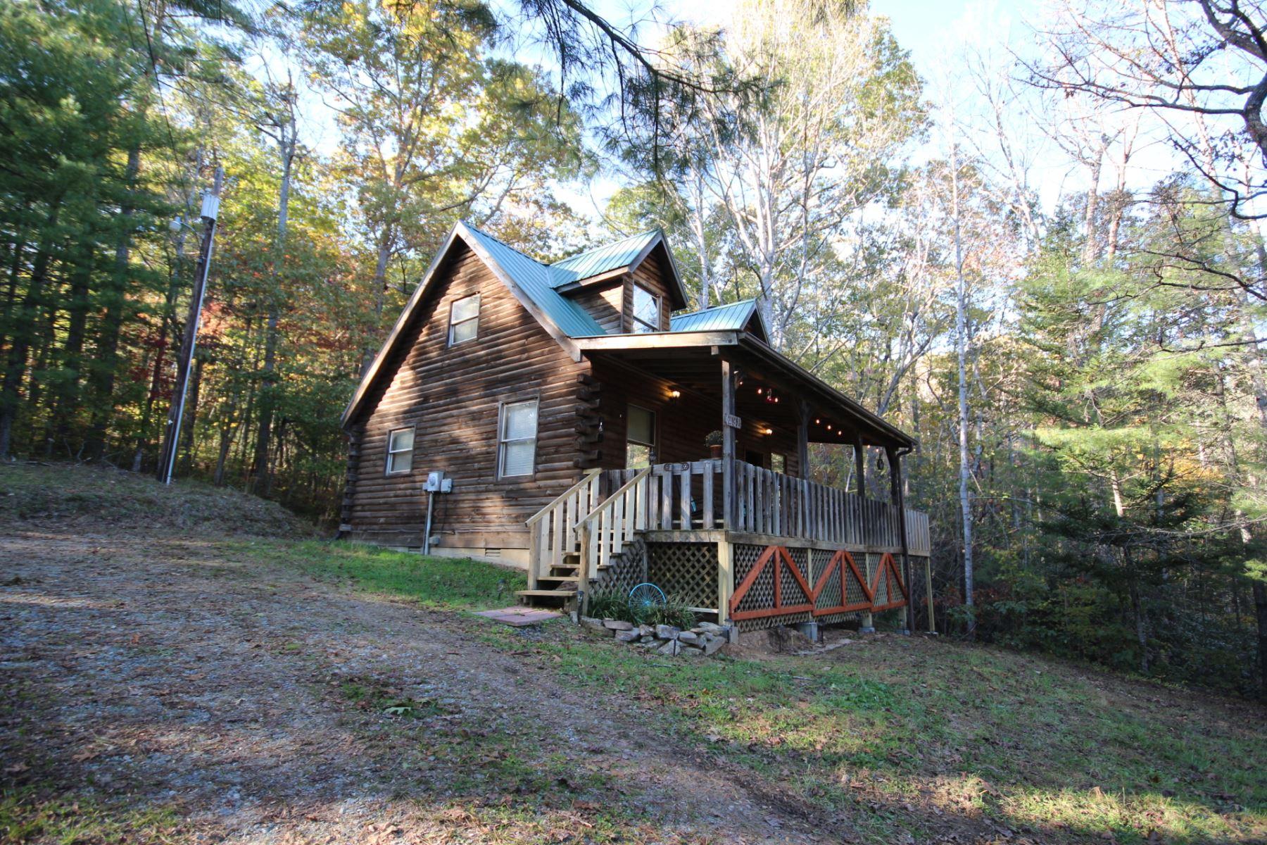 Floor Plan for Hike and Bike Hideaway Cabin in Hendersonville